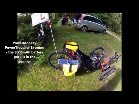 KMX Karts Cobra Trike Setup: PowerMonkey + Topeak Ridecase II + iPhone 5