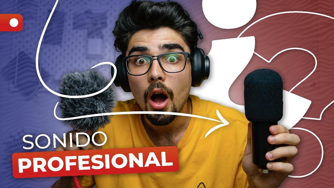 El MEJOR AUDIO para tus VÍDEOS🎤 // 3 TIPS para GRABAR SONIDO más PROFESIONAL con POCO DINERO