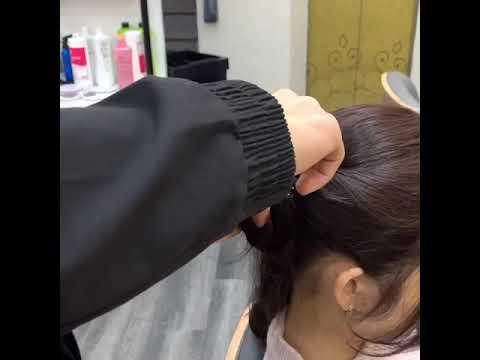 Cách kẹp càng cua tại nhà cho tóc xoăn sóng nước #shorts