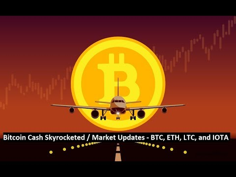 Bitcoin Cash Skyrocketed / Market Updates: BTC, ETH, LTC and IOTA