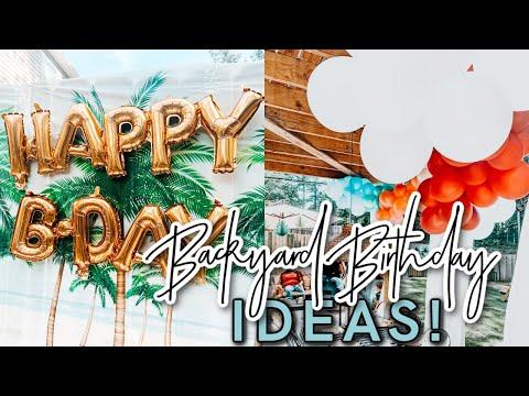BACKYARD BIRTHDAY PARTY IDEAS | My First DIY BALLOON GARLAND! | Summer Party Ideas