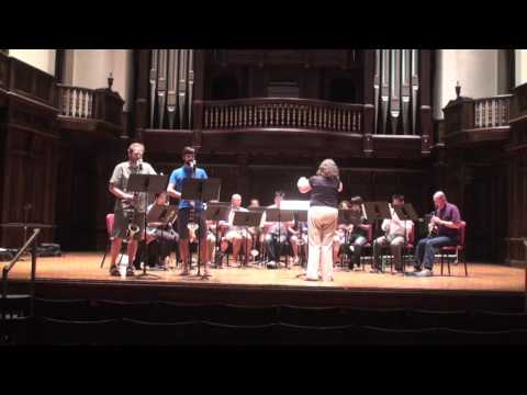 Bass Clarinet Double Concerto -- Clarinet Choir version -- Claremont Clarinet Festival 2013