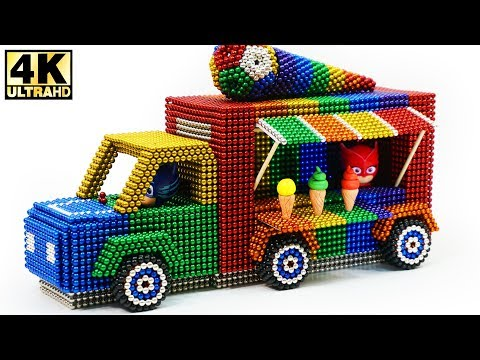 ASMR - DIY How To Make Ice Cream Truck from Magnetic Balls | Magnetic Man 4K