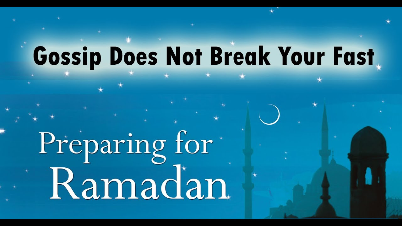 Invalidating your fast in ramadan