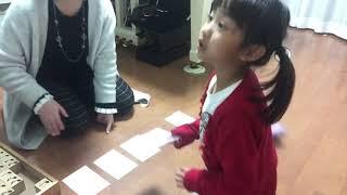 カードの言葉を音符に置き換えてリズム積木を並べ、できたらリズム打ち...