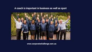 A coach is important in business as well as sport - Corporate Challenge Events