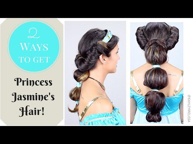 2 Ways To Get Princess Jasmine S Hair Youtube
