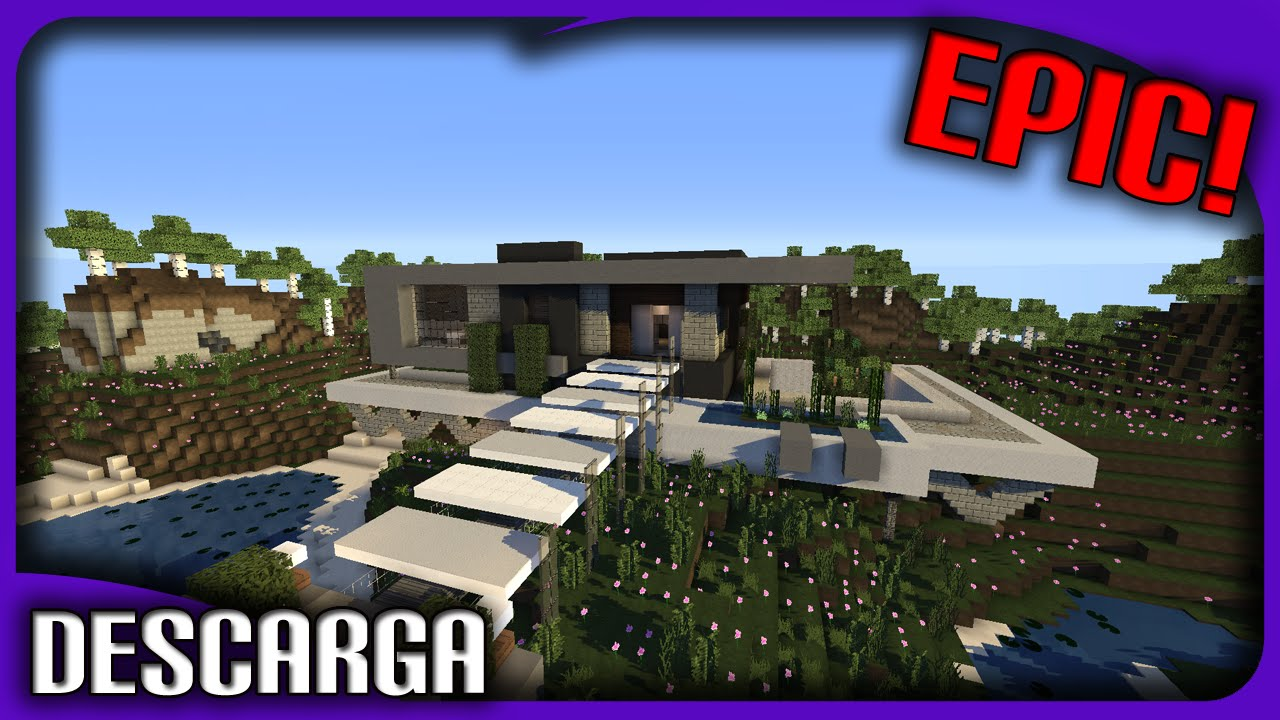 La mejor casa mansi n moderna de minecraft descarga for Casa moderna 1 8