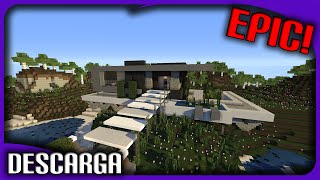 La mejor Casa/Mansión Moderna de minecraft + Descarga! | Make your House #8