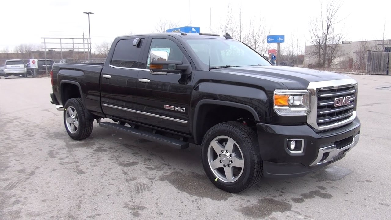 2017 gmc sierra 2500hd 4wd crew cab standard box slt youtube. Black Bedroom Furniture Sets. Home Design Ideas