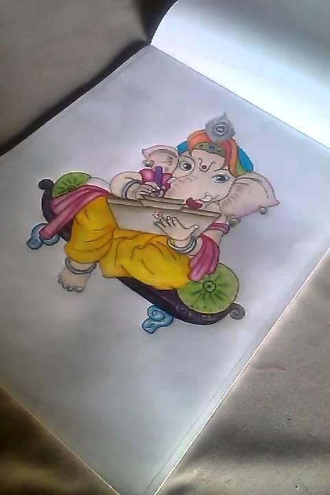 Ganapati Bappa Moraya My Hand Painting Youtube