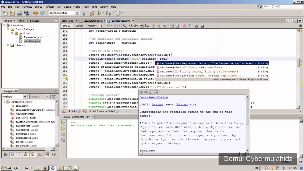 How to make ip address calculator in java netbeans 8 (new tutorial) Part #2