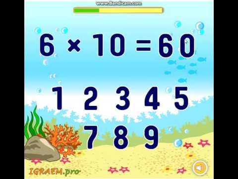 Для Детей Таблица Умножения на 6 (урок таблица умножения на 6)