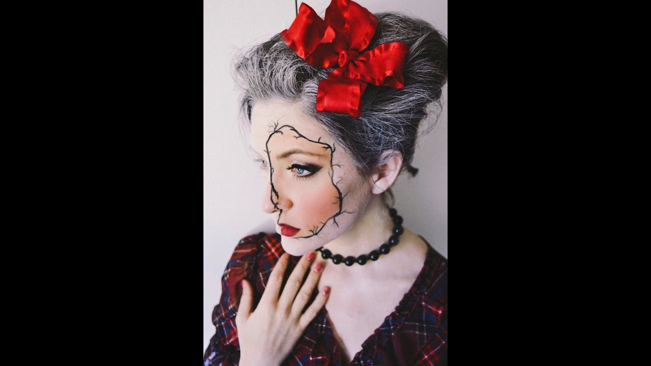 Halloween Makeup tutorial: Porcelain Doll - YouTube