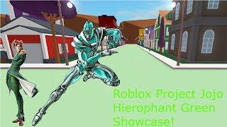 Roblox Project Jojo Hierophant Green Showcase!