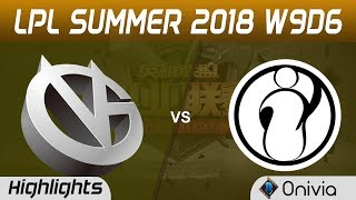 VG vs IG Highlights Game 1 LPL Summer 2018 W9D6 Vici Gaming vs Invictus Gaming by Onivia