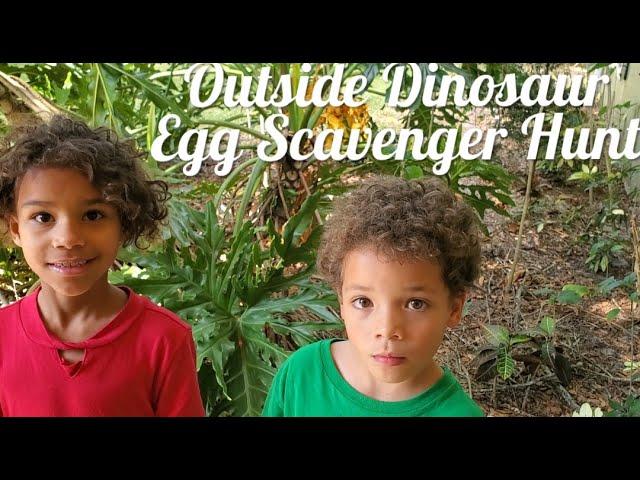 Outside Dinosaur Egg Scavenger Hunt