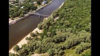 Привет Гомель. Вид на Гомель(Гомель с необычной точки обзора. Пешеходный мост на пляж гомеля., 2016-02-07T07:40:47.000Z)