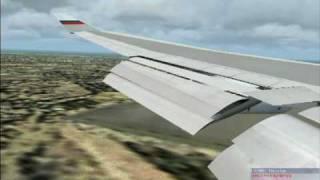 FS2004: B747-400 landing at Taipei