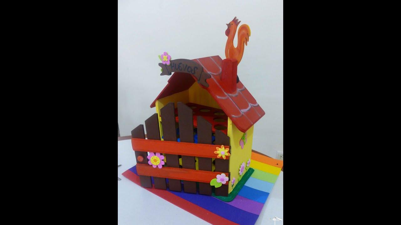 Casa para huevos en madera o arte country youtube - Productos de madera para manualidades ...