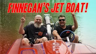 Riding (And Almost Sinking?) @Finnegan's Garage Twin Turbo Jet Drag Boat!