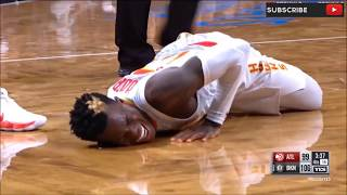 Dennis Schroder Left Ankle Injury / Hawks vs Nets / 2017 NBA Season