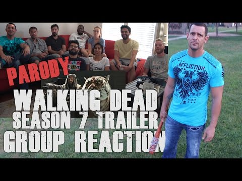 Walking Dead Season 7 Official Comic Con Trailer - Group Reaction and Skit