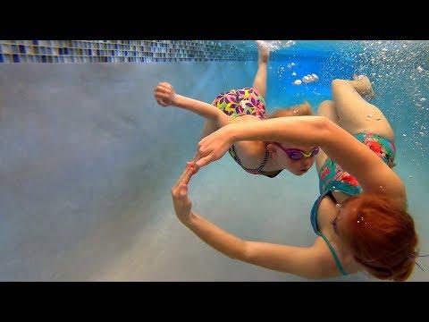 Underwater Tricks in the Swimming Pool