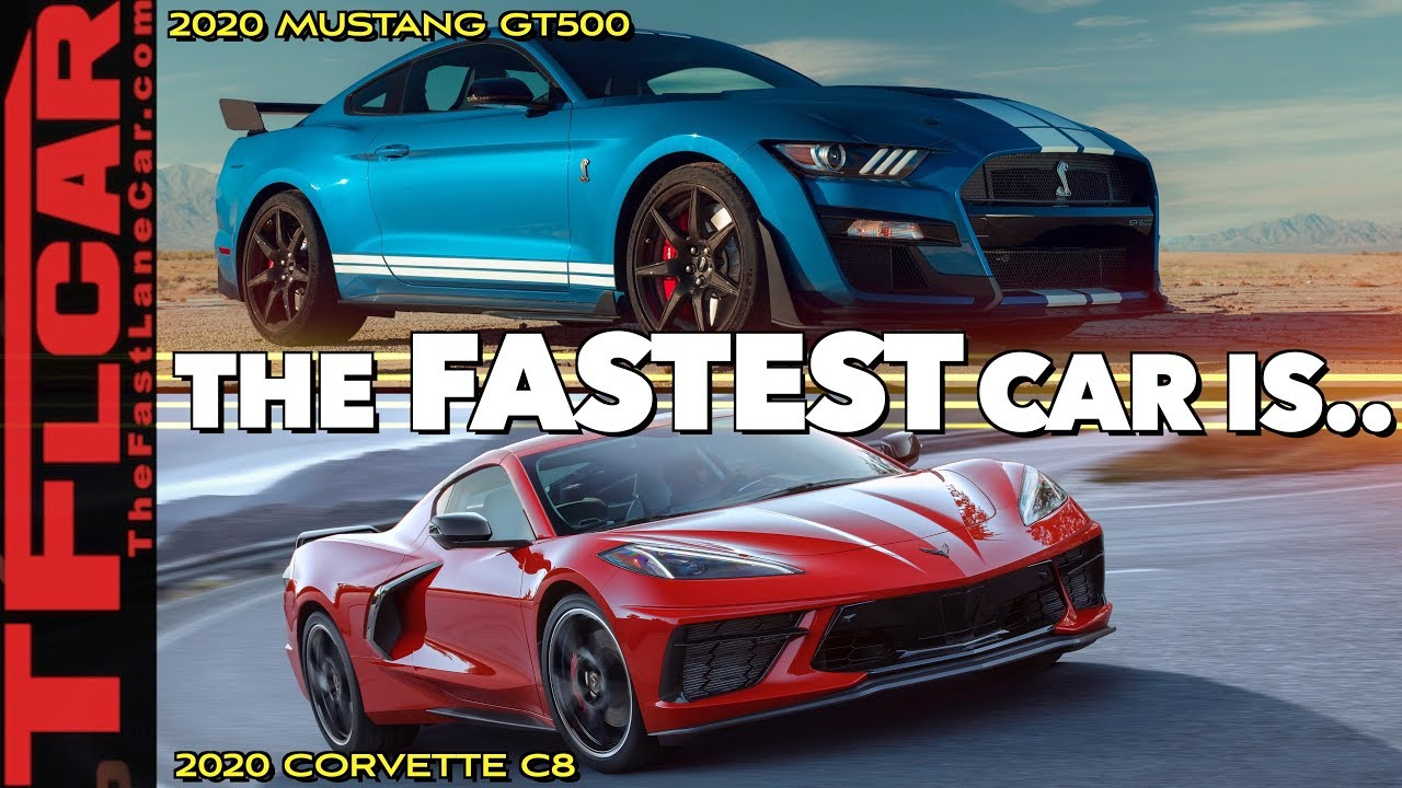 2020 ford mustang shelby gt500 vs chevrolet corvette which one is