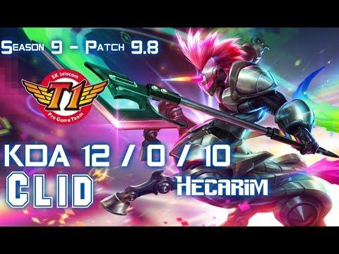 SKT T1 Clid HECARIM vs REK'SAI Jungle - Patch 9.8 KR Ranked