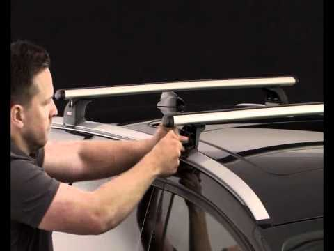 Thule Roof Box >> How to fit Thule 753 Roof bar / Roof rack fitting kit for ...