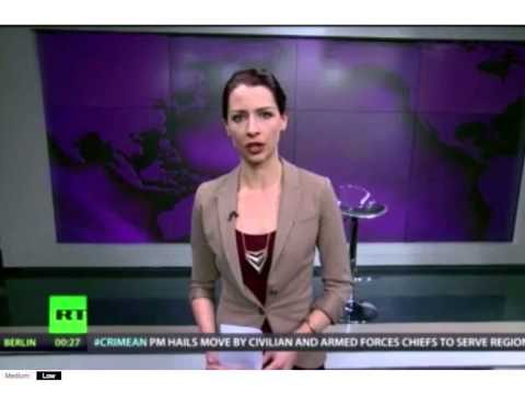 Russia Today anchor Abby Martin speaks out against Russian invasion of Crimea 3/3/2014