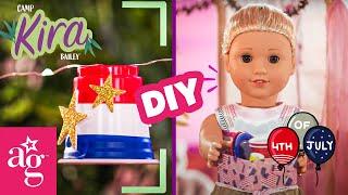 @American Girl Doll Crafts   DIY 4th of July! Confetti Crackers & Light Garland   CAMP KIRA