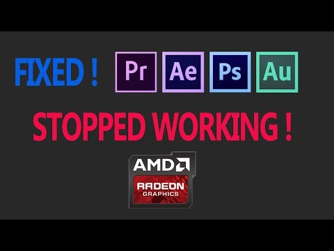 How to fix Adobe Premiere Pro CC has stopped working (photoshop, after effects, audition ...)