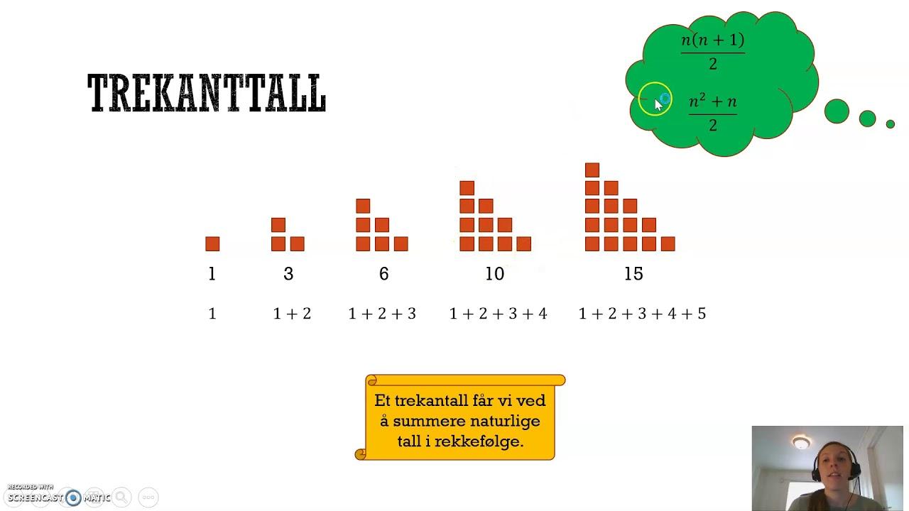 Figurtall og tallrekker: Trekanttall