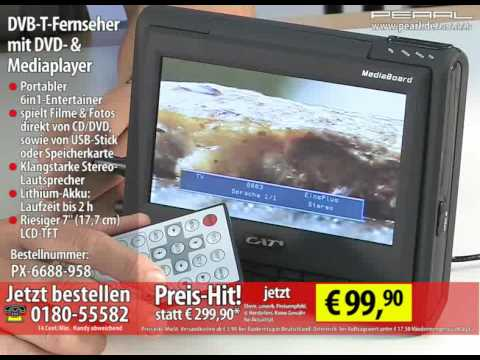 cat 7 dvb t fernseher mit dvd mediaplayer ber usb sd mediaboard youtube. Black Bedroom Furniture Sets. Home Design Ideas