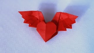 Origami Winged Heart 3.0 (wings up) tutorial - DIY (Henry Phạm)