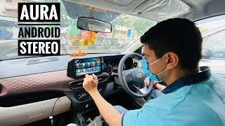 "Hyundai Aura Getting Android Stereo Installed "" Bilkul Fitting Wali Baat """