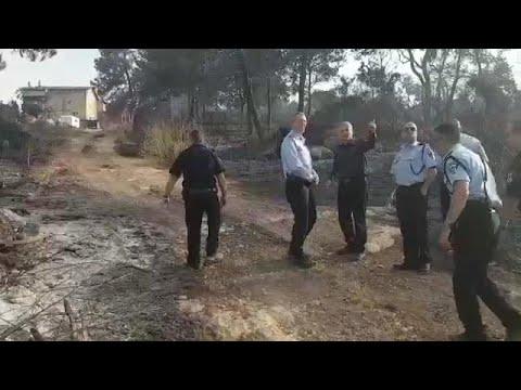 הנזק העצום בשריפה במבוא מודיעים: 40 מתוך 50 בתי היישוב הושמדו כליל