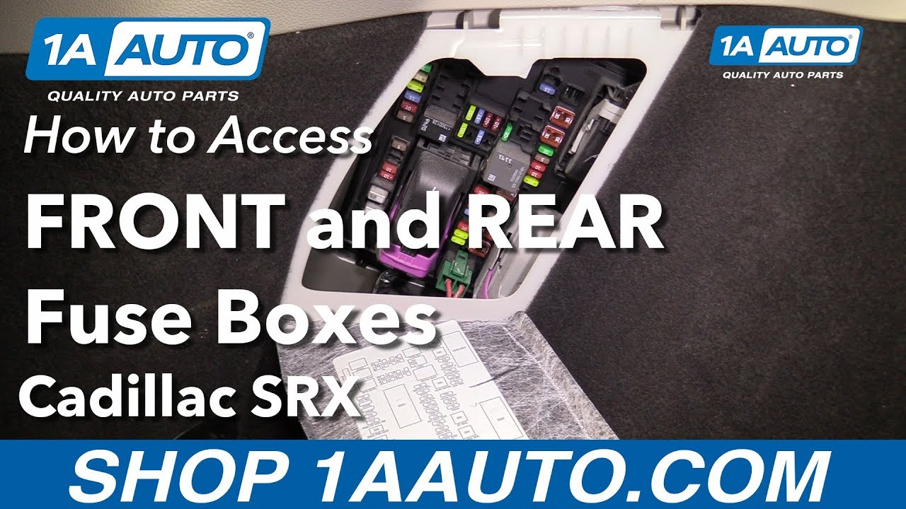 How To Access Fuse Boxes 10-16 Cadillac Srx