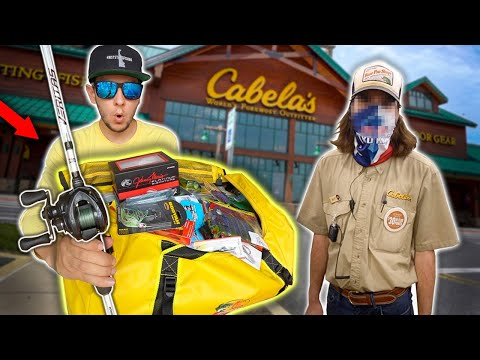 Cabela's Employee Picks My FISHING GEAR!! ($500)