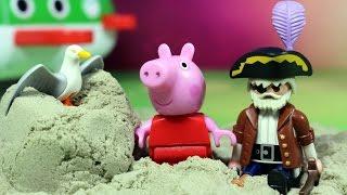 Przygoda Peppy i pirat na wyspie! - Świnka Peppa & Playmobil - bajka po polsku