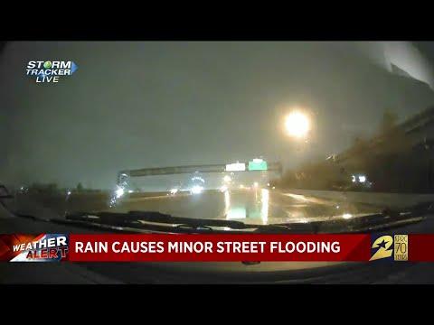 Rain causes minor street flooding