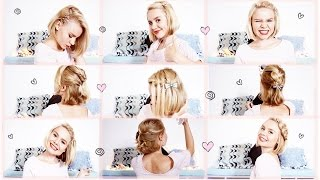 видео как красиво собрать короткие волосы