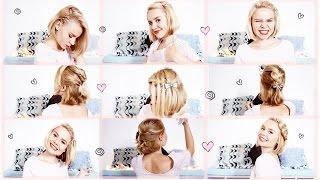 ♥ ♥ 9 Short Hair Styles ♥ ♥(простые прически в школу)(на КОРОТКИЕ волосы)(9 ПРИЧЕСОК НА КОРОТКИЕ ВОЛОСЫ (каре) ПОДПИСАТЬСЯ НА МОЙ КАНАЛhttps://www.youtube.com/user/SJulia27 Косичка Водопад ..., 2015-07-16T15:13:06.000Z)