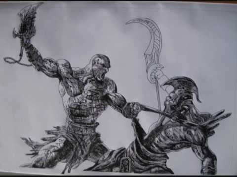 God Of War 2 Drawing Youtube