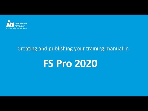 create and publish your training manual in fs pro 2020 youtube