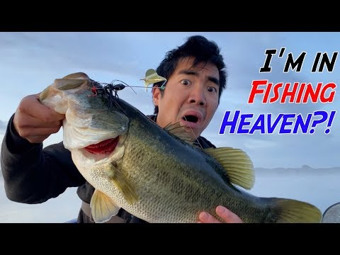 THIS LAKE IS A FISHERMAN'S DREAM!!! (MONSTER BASS EVERYWHERE)