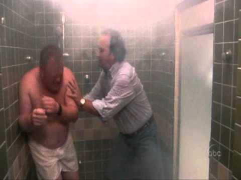 According to jim:Jim and Andy shower