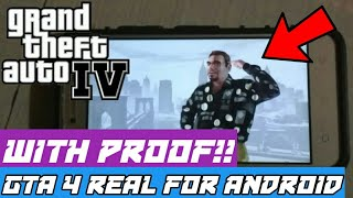 GTA 4 APK+DATA REAL GAME FOR ANDROID WITH GAMEPLAY PROOF!!